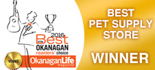 Best of the Okanagan 2016 - Best Pet Supply Store WINNER