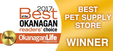 Best of the Okanagan 2017 - Best Pet Supply Store WINNER